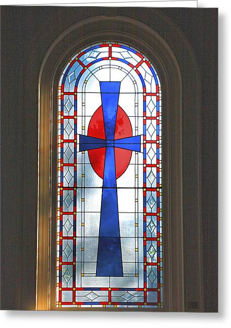 Christian Note Cards Greeting Cards - Chapel Window Greeting Card by Steven Ainsworth