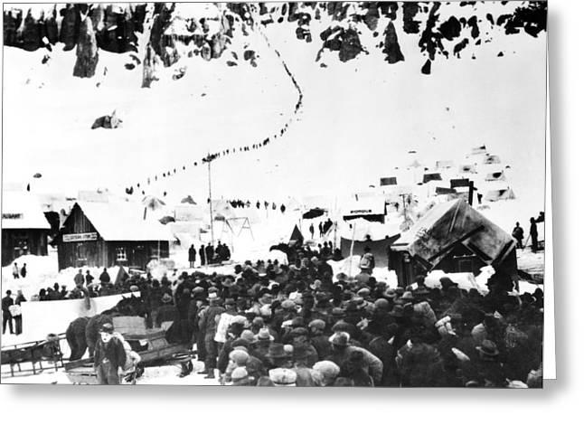 Klondike Gold Rush Greeting Cards - Chaplin: Gold Rush, 1925 Greeting Card by Granger