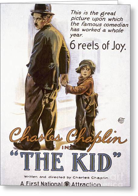 Chaplin Poster Greeting Cards - Chaplin: The Kid, 1920 Greeting Card by Granger