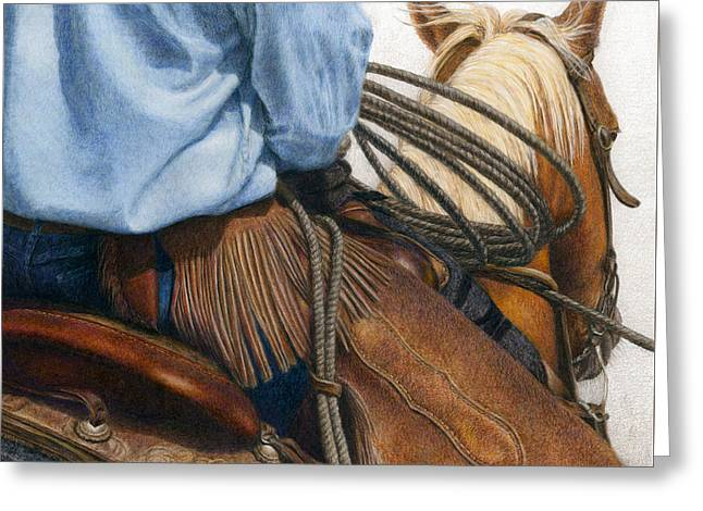 Rope Greeting Cards - Chaps Greeting Card by Pat Erickson