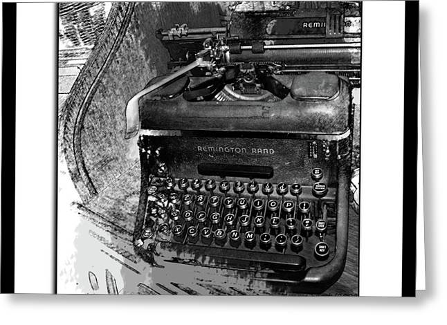Typewriter Keys Greeting Cards - Chapter One Greeting Card by Monroe Snook
