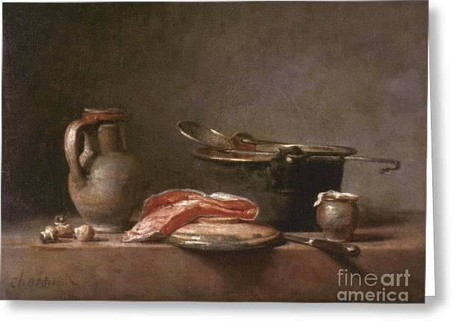 Chardin Greeting Cards - Chardin: Copper Pot Greeting Card by Granger