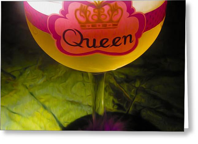 Chardonnay Queen Greeting Card by Cheryl Young