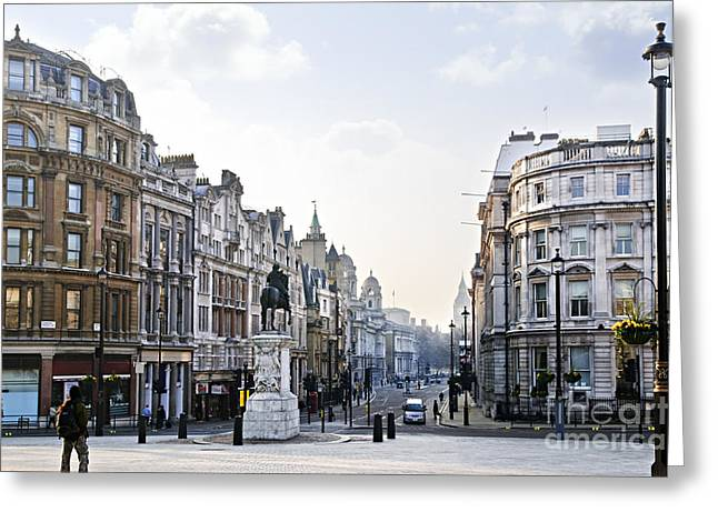 Lampposts Greeting Cards - Charing Cross in London Greeting Card by Elena Elisseeva
