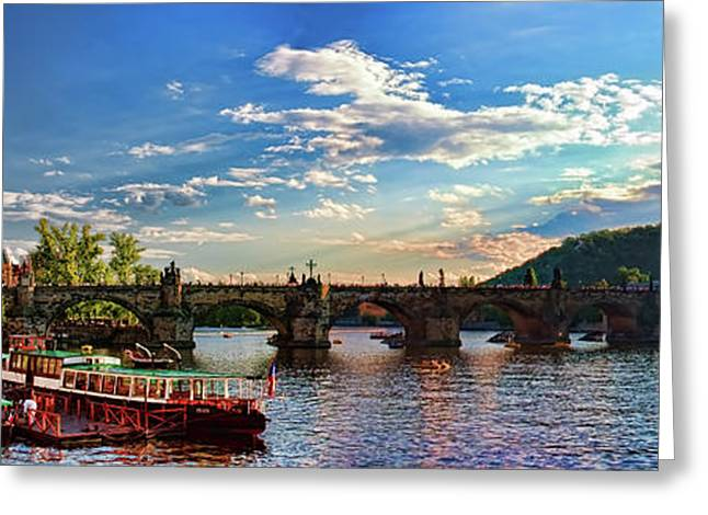 Tschechien Greeting Cards - Charles Bridge Greeting Card by Joerg Lingnau