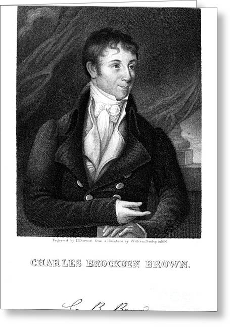 Autograph Greeting Cards - Charles Brockden Brown Greeting Card by Granger