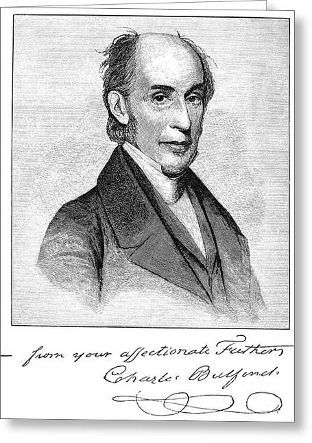 Autograph Greeting Cards - Charles Bulfinch (1763-1844) Greeting Card by Granger