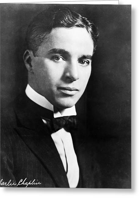 Autograph Greeting Cards - Charles Chaplin (1889-1977) Greeting Card by Granger