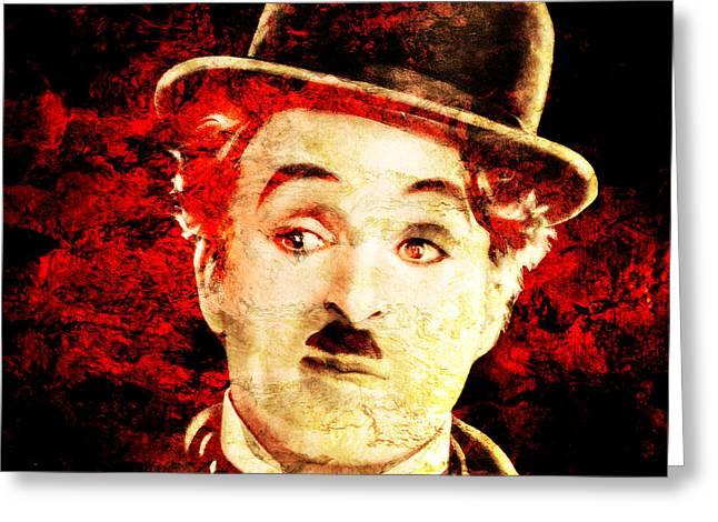 Charly Greeting Cards - Charles Chaplin Greeting Card by Jose Espinoza