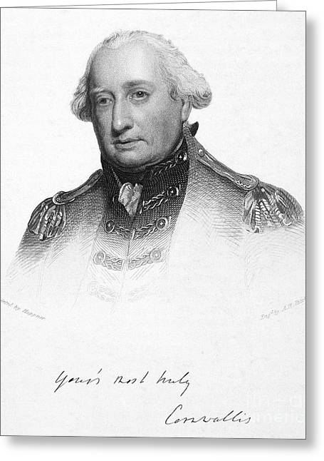 Autograph Greeting Cards - Charles Cornwallis Greeting Card by Granger