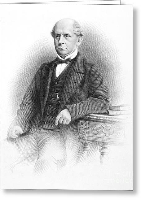 Bowtie Greeting Cards - Charles F. Adams (1807-1886) Greeting Card by Granger
