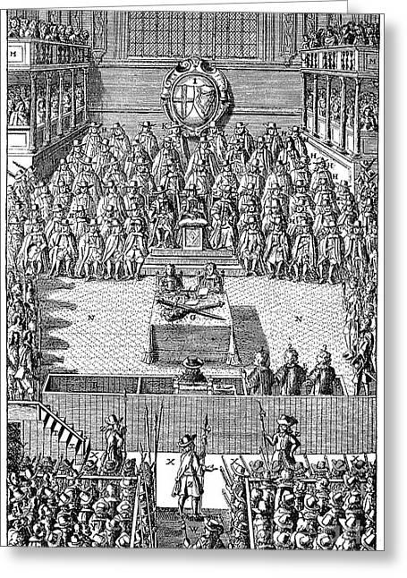 Treason Greeting Cards - Charles I (1600-1649) Greeting Card by Granger