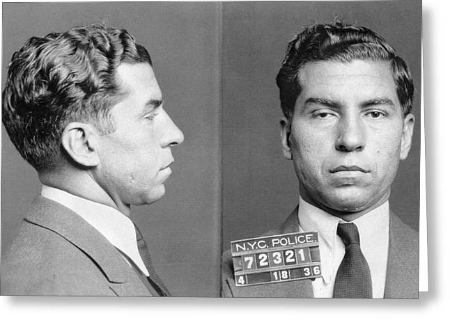 Lucky Photographs Greeting Cards - Charles Lucky Luciano Greeting Card by Granger
