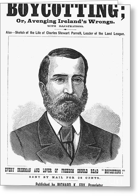 Nationalists Greeting Cards - Charles Parnell Greeting Card by Granger