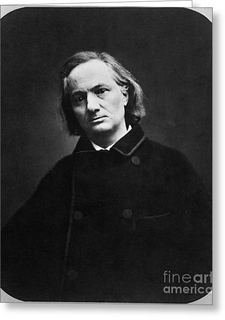 Charles Baudelaire Greeting Cards - Charles Pierre Baudelaire Greeting Card by Photo Researchers