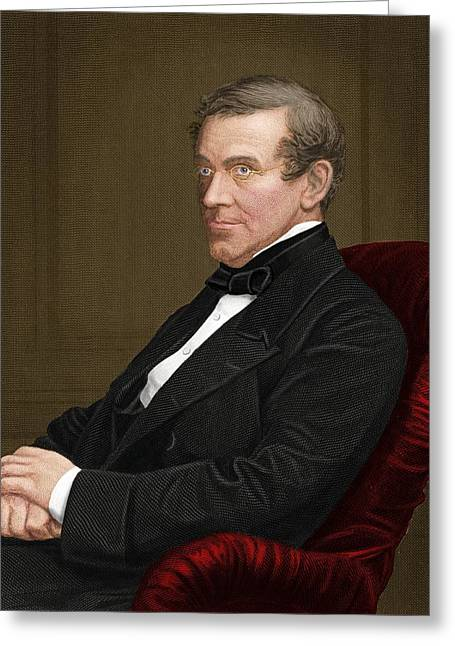 Electrical Resistance Greeting Cards - Charles Wheatstone, British Inventor Greeting Card by Maria Platt-evans