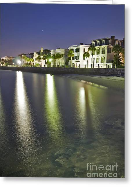 Charleston Greeting Cards - Charleston Battery Row At Dawn Greeting Card by Dustin K Ryan