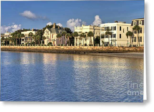 Charleston Greeting Cards - Charleston Battery Row South Carolina  Greeting Card by Dustin K Ryan