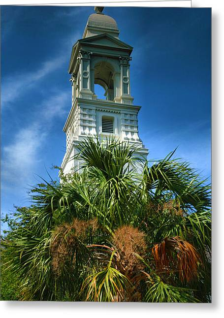 Religious Framed Prints Greeting Cards - Charleston Belltower Greeting Card by Steven Ainsworth