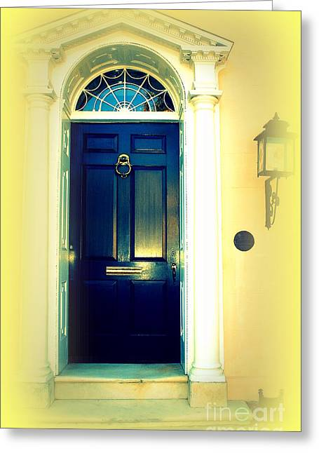 Charleston Greeting Cards - Charleston Door 4 Greeting Card by Susanne Van Hulst