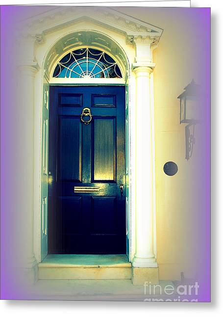 Colorful Greeting Cards - Charleston Door 6 Greeting Card by Susanne Van Hulst
