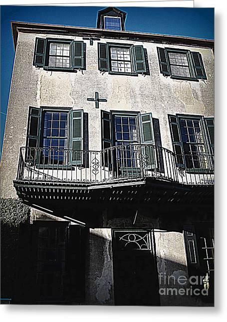 Charleston Greeting Cards - Charleston Houses Greeting Card by Susanne Van Hulst