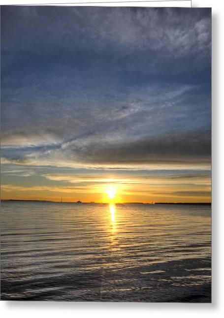 Charleston Sc Greeting Cards - Charleston SC Sunrise Greeting Card by Dustin K Ryan