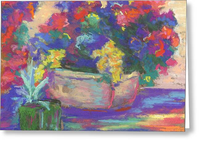 Charleston Pastels Greeting Cards - Charleston Summer Colors Greeting Card by Nancy w Rushing