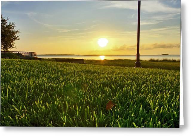 Charleston Waterfront Park Sunrise 3 Greeting Card by Dustin K Ryan