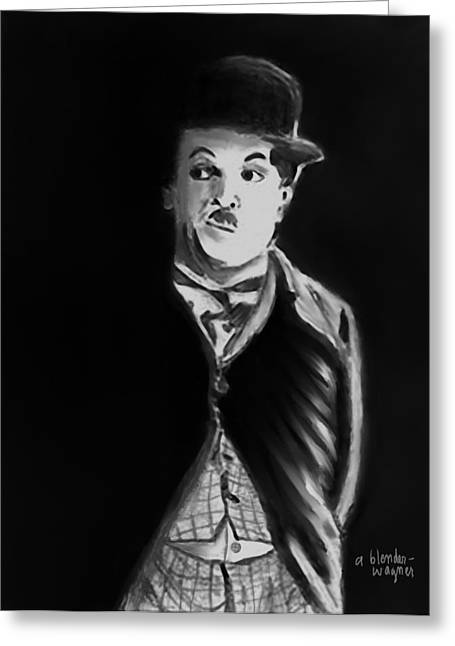 Charlie Chaplin Greeting Cards - Charlie Greeting Card by Arline Wagner