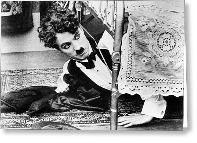 Comedian Greeting Cards - Charlie Chaplin (1889-1977) Greeting Card by Granger