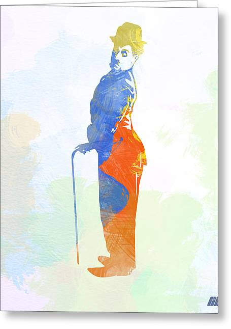 Chaplin Poster Greeting Cards - Charlie Chaplin Greeting Card by Naxart Studio