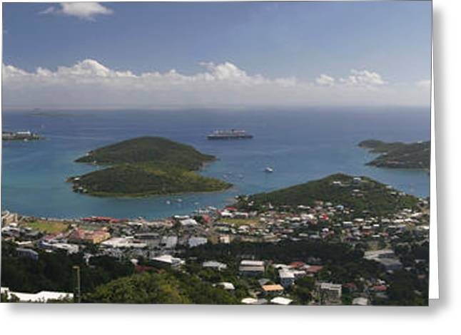Charlotte Greeting Cards - Charlotte Amalie from Above Greeting Card by Gary Lobdell