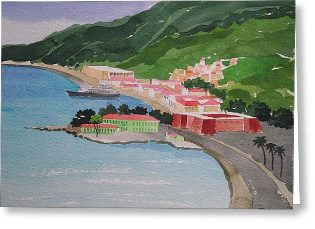 Charlotte Paintings Greeting Cards - Charlotte Amalie Greeting Card by Robert Rohrich