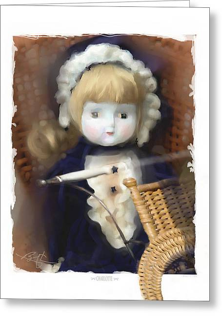 Baby Doll Greeting Cards - Charlotte Greeting Card by Bob Salo