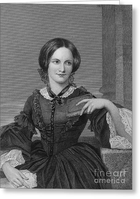 Charlotte Photographs Greeting Cards - Charlotte BrontË Greeting Card by Granger