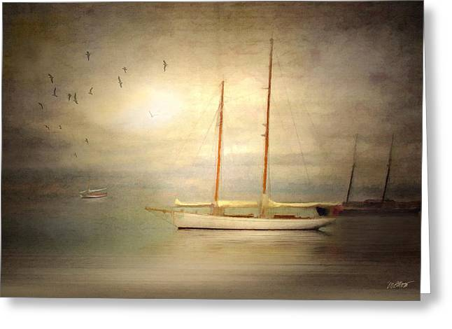 Schooner Digital Art Greeting Cards - Charlotte Greeting Card by Michael Petrizzo