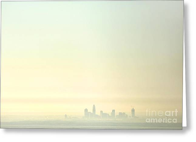 Mecklenburg County Greeting Cards - Charlotte morning mist Greeting Card by Patrick Schneider