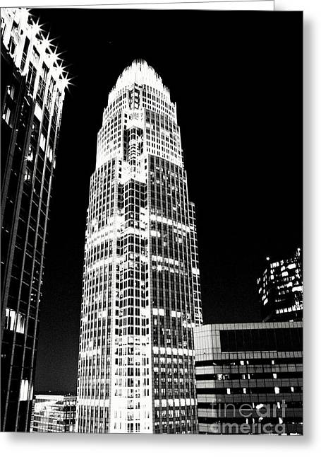 Charlotte Nc Photography Greeting Cards - Charlotte North Carolina Bank of America Building Greeting Card by Kim Fearheiley