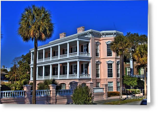 Photographers Decatur Greeting Cards - Charlston Battery Mansion Greeting Card by Corky Willis Atlanta Photography