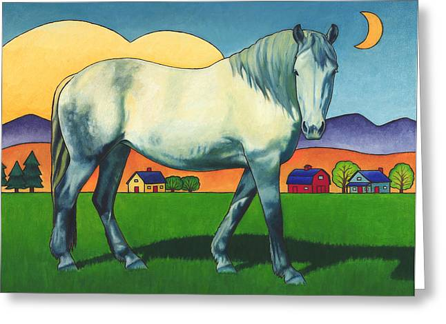 Mares Greeting Cards - Charmeon Greeting Card by Stacey Neumiller