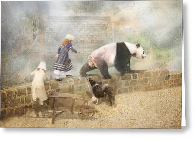 Chasing Childhood Dreams Greeting Card by Trudi Simmonds