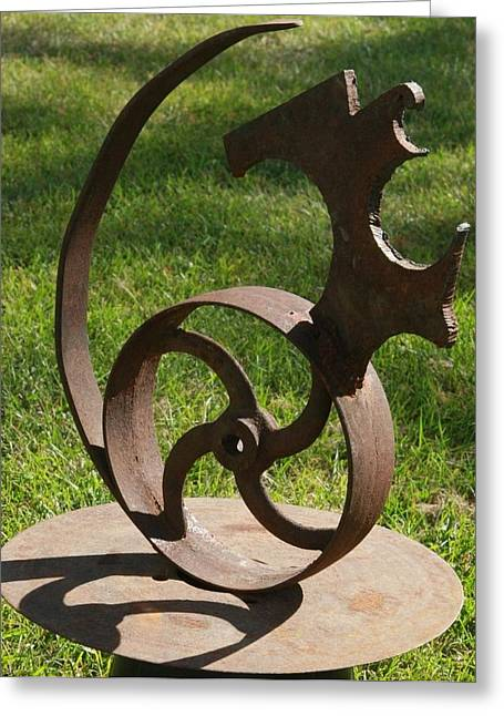 Farm Sculptures Greeting Cards - Chasing Greeting Card by Ellery Russell