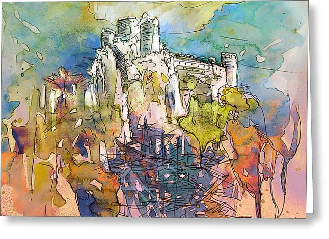 Languedoc Greeting Cards - Chateau Cathare de Puylaurens 01 - France Greeting Card by Miki De Goodaboom