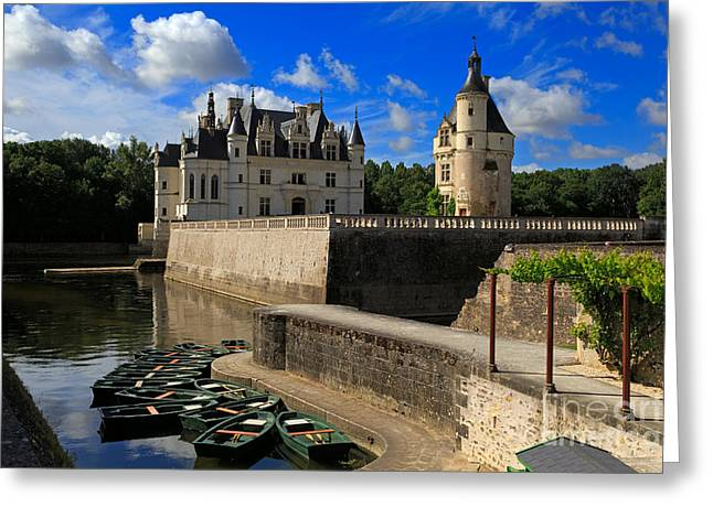 Chateau Greeting Cards - Chateau Chenonceau Loire Valley Greeting Card by Louise Heusinkveld