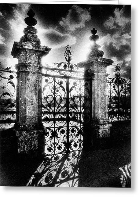 Castle Gates Greeting Cards - Chateau de Carrouges Greeting Card by Simon Marsden
