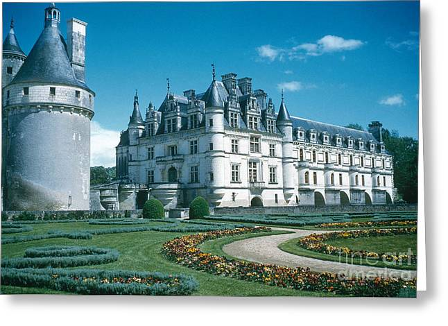 World Destination Photographs Greeting Cards - Chateau De Chenonceau Greeting Card by Photo Researchers, Inc.