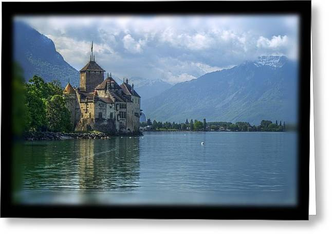 Chillon Greeting Cards - Chateau de Chillon Greeting Card by Matthew Green