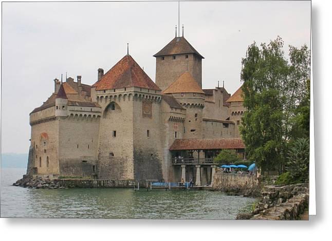 Lake Geneva Greeting Cards - Chateau de Chillon Switzerland Greeting Card by Marilyn Dunlap