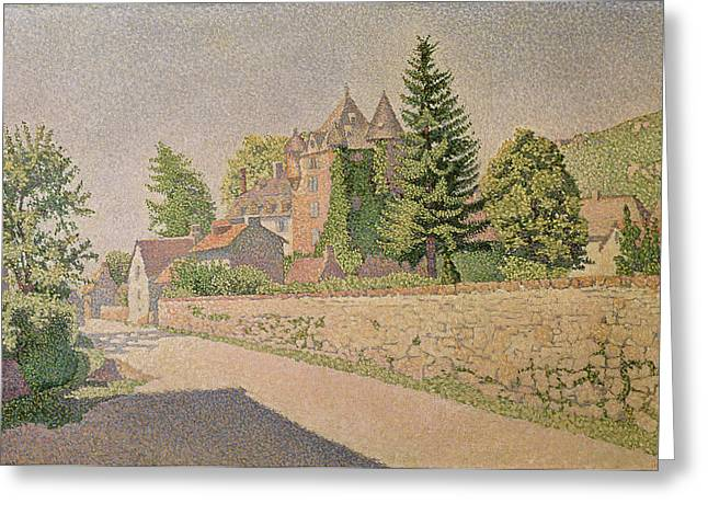 Chateau Greeting Cards - Chateau de Comblat Greeting Card by Paul Signac